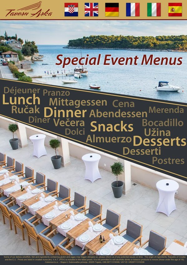 Groups & Events - Venues & Special Menus