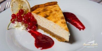 Cheese cake closeup tavern arka zaton dubrovnik