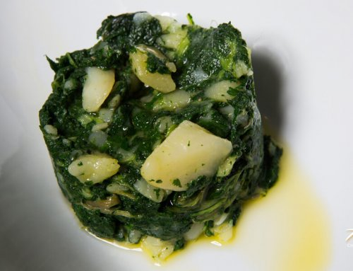Cooked Potatoes & Swiss Chard