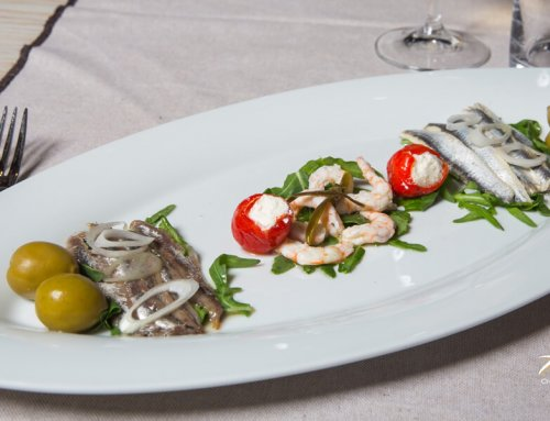 Marinated Plate (Salted & Marinated Anchovies, Marinated Prawns)