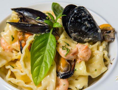 Pasta Mare – Homemade Tagliatelle Mussels & Prawns