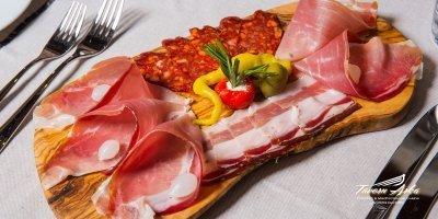 cold cuts prosciutto seka sausage sirloin steak closeup tavern arka zaton dubrovnik