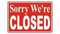 Tavern Arka Restaurant Closed sign