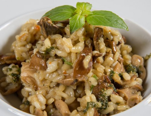 Wild Mushrooms & Asparagus Risotto